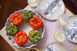 Aromatyczna papryka w stylu meksykańskim z mięsem i kaszą jaglaną